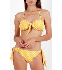 bikini admas life dots 2-delige push-up bandeau bikini set