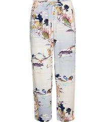 night trousers woven flora pyjamasbyxor mjukisbyxor blå lindex