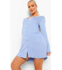 zwangerschap borstvoeding nachtjapon met laagjes, black