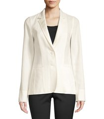 lafayette 148 new york women's vangie linen-blend blazer - cloud - size 6