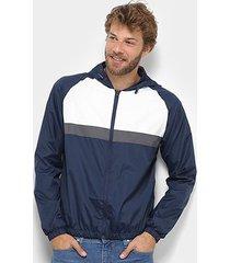 jaqueta corta vento john taylor listrada c/ capuz masculina