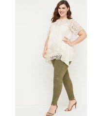 lane bryant women's power pockets super stretch skinny jean - washed green 28p dried sage