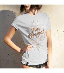 koszulka damska ahoj przygodo szara