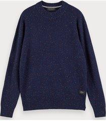 scotch & soda classic wool-blend crewneck pullover