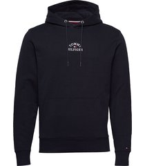 basic embroidered ho hoodie trui zwart tommy hilfiger