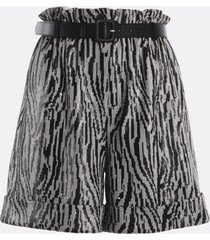 self-portrait paperbag shorts with sequins