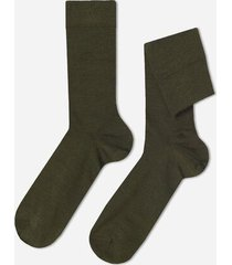 calzedonia short wool and cotton socks man green size 44-45