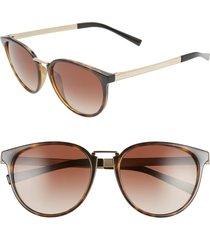 women's versace phantos 54mm round sunglasses - havana/ brown gradient
