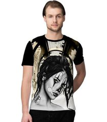 camiseta stompy clown girl masculino