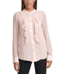 calvin klein ruffle blouse