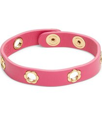 salvatore ferragamo women's studded leather bracelet