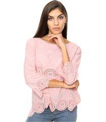 blusa rosa laila heather