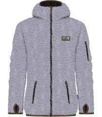 chaqueta chiporro clásica insight gris plata falcone