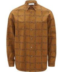 j.w. anderson tobacco brown cotton shirt