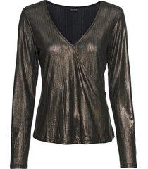 maglia lucida a maniche lunghe (oro) - bodyflirt