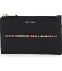 paul smith signature stripe card holder pouch