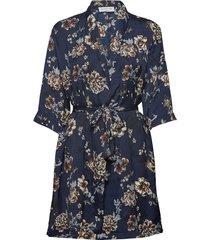 jacket 3/4s korte jurk blauw rosemunde