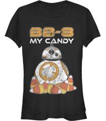 fifth sun star wars women's bb-8 my candy halloween short sleeve tee shirt