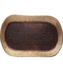 bandeja bronze- pashmina- oval tray- marrom
