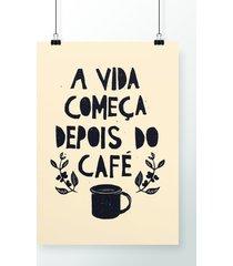 poster depois do café