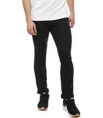 jeans coca-cola negro - calce ajustado