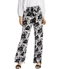 inc printed smocked-waist pants, created for macy's