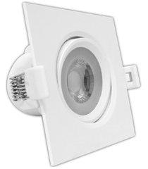 spot led de embutir quadrado mr16 10w bivolt 6000k luz branca
