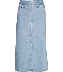 astridgz long skirt lång kjol blå gestuz