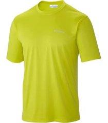 camiseta hombre tech trek mc verde neon columbia
