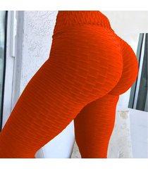 mujeres push up leggings sexy leggings de cintura alta jeggings legins-rojo