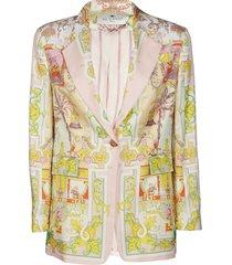 etro multicolor silk blazer