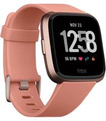 fitbit versa peach band touchscreen smart watch 39mm