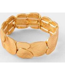 adriena textured stretch bracelet - gold