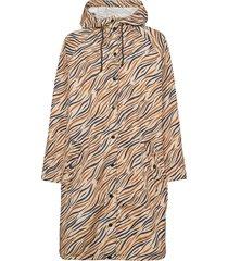 zobreo magpie raincoat outerwear rainwear rain coats orange becksöndergaard