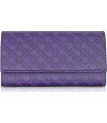 gherardini designer wallets, signature fabric softy tri-fold wallet