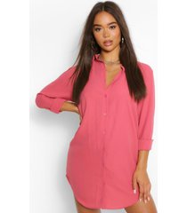 oversized blouse jurk met lange zoom, rose