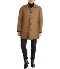 cole haan men's reversible rain jacket - black - size m