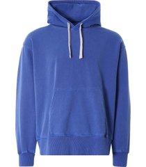 nigel cabourn embroidered arrow hoodie   washed blue   ncj-55 blu