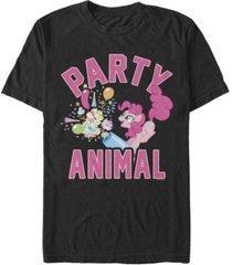 fifth sun men's pinkie pie party short sleeve crew t-shirt