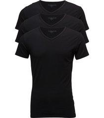 stretch vn tee ss 3pack t-shirts short-sleeved svart tommy hilfiger