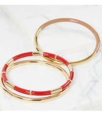 lane bryant women's 3-row enamel bangle bracelets onesz baked apple