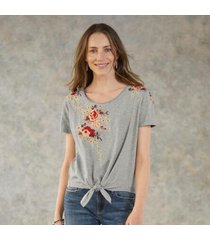 driftwood women's smitten t-shirt in gray small