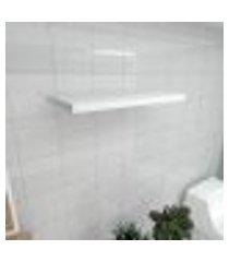 prateleira para banheiro mdf suporte inivisivel cor branco 60(c)x30(p)cm modelo pratbnb22