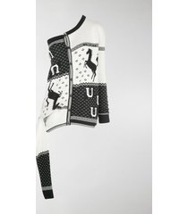 y/project off-shoulder knit cardigan