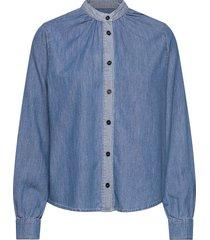 light indigo sylle overhemd met lange mouwen blauw mads nørgaard