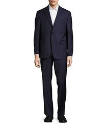 classic-fit woven wool suit