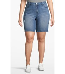 lane bryant women's venezia bermuda denim short 22 medium wash