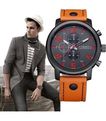 reloj pulsera curren cuero moda hombre analógico casual