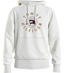 tommy hilfiger ivory hooded sweatshirt
