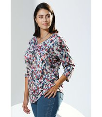 shirt m. collection blauw::pink::wit